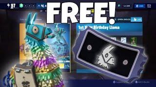 FREE Year 1 Birthday Llama! X-Ray Tickets! | Fortnite Save The World