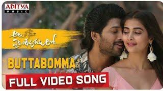 Butta Bomma Full Video Song    Allu Arjun    Trivikram    Roopesh Raveendra    8D Music