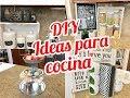 DECORACION DE COCINA BARATISIMO PARTE 3 || 3 DIYs COLGADOR DE POCILLOS, BANDEJA, MACETAS.