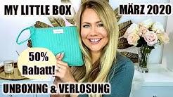 My Little Box März 2020 mit 50% Rabatt? UNBOXING & VERLOSUNG