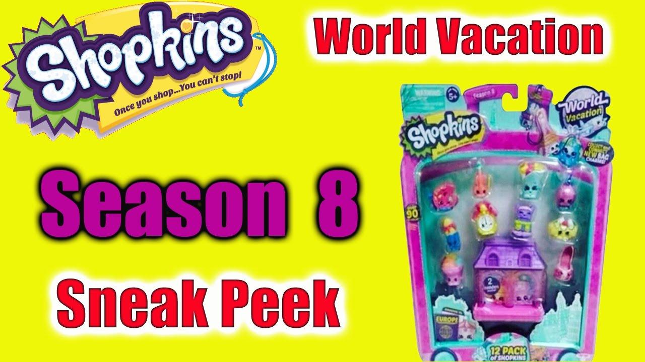 Shopkins Season 8 World Vacation Sneak Peak 12 and 5 Packs ...