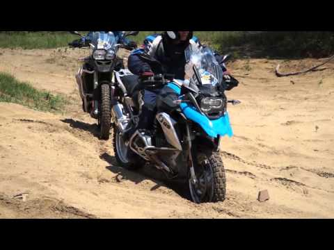 Riding Through Deep Sand on a BMW GS
