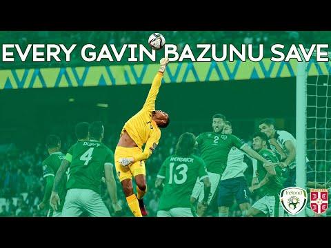GAVIN BAZUNU | EVERY SAVE VS SERBIA