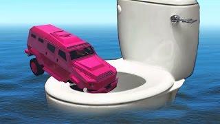CRAZY FLUSH THE INVINCIBLE ATTACKERS! (GTA 5 Funny Moments)