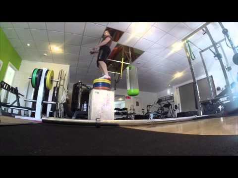 PT:U Front Squat Superset with Box Jumps
