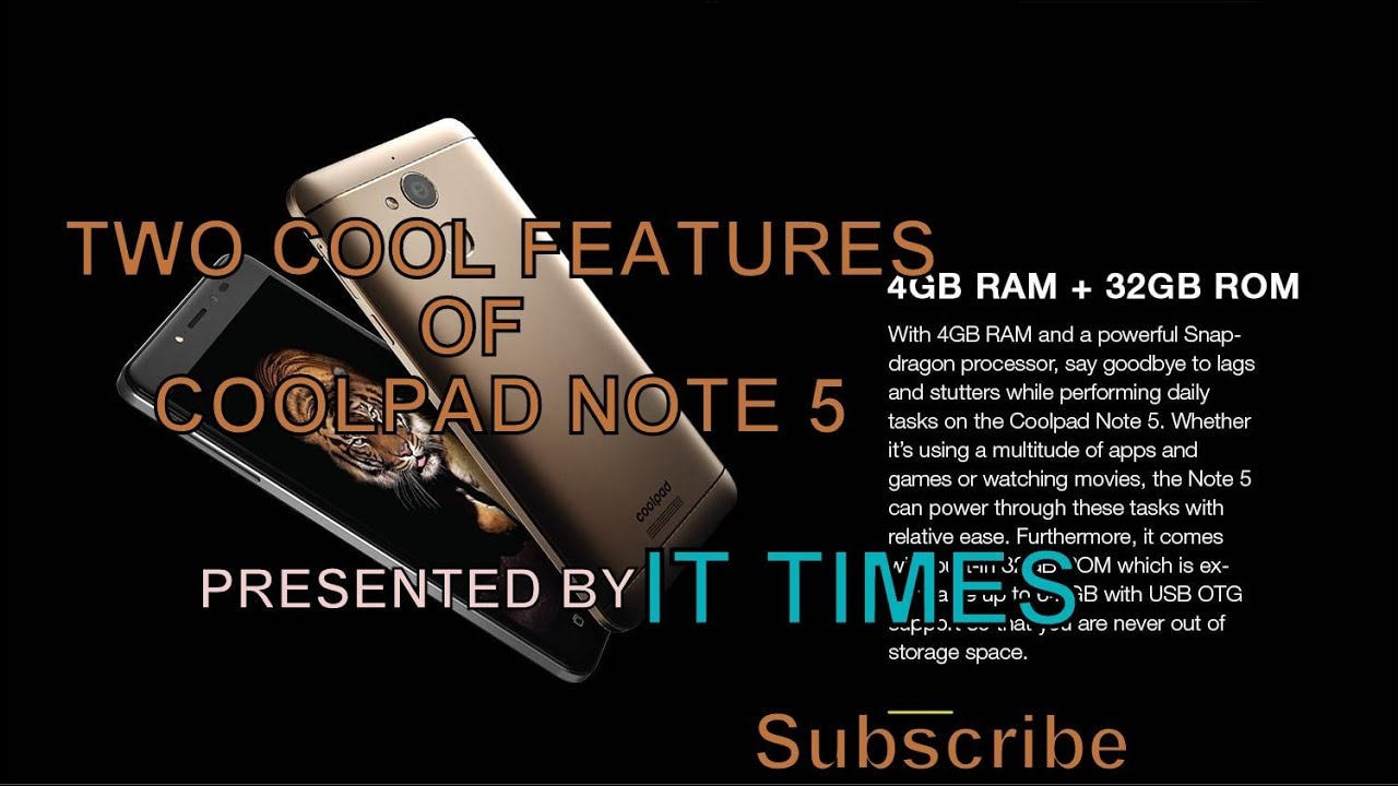 Two cool features of coolpad note 5