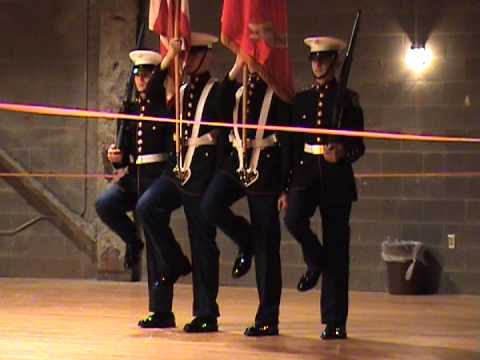 Nation Ford High School Drill Team at RS Central High School - Color Guard