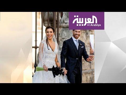 صباح العربية | نجم مدريد راموس تزوج وزوجته بفستان لبناني  - نشر قبل 2 ساعة