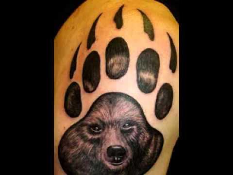 Bear claw tattoo design - YouTube