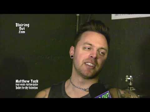 Bullet for My Valentine's  Matthew Tuck talks w Eric Blair about life ,love and Music 2013