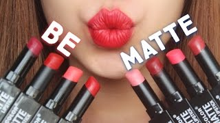 [SWATCH + REVIEW] CITY COLOR BE MATTE LIPSTICK (WITH CC ENGSUB)