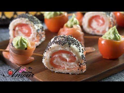 amuse-bouche-au-pain-de-mie-et-saumon-fumé,-apéritif-dînatoire