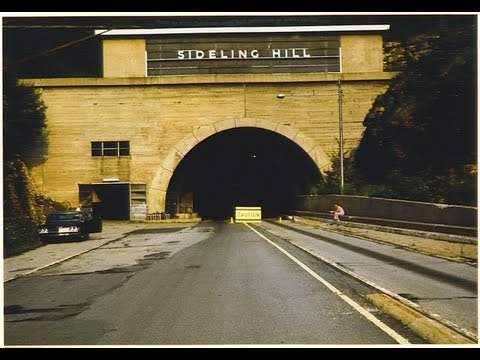 Sideling Hill Tunnel, winter cycling on an Abandoned Highway in Breezewood PA, USA - JAN 2013