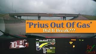 Prius Runs out of Gas and Battery Power