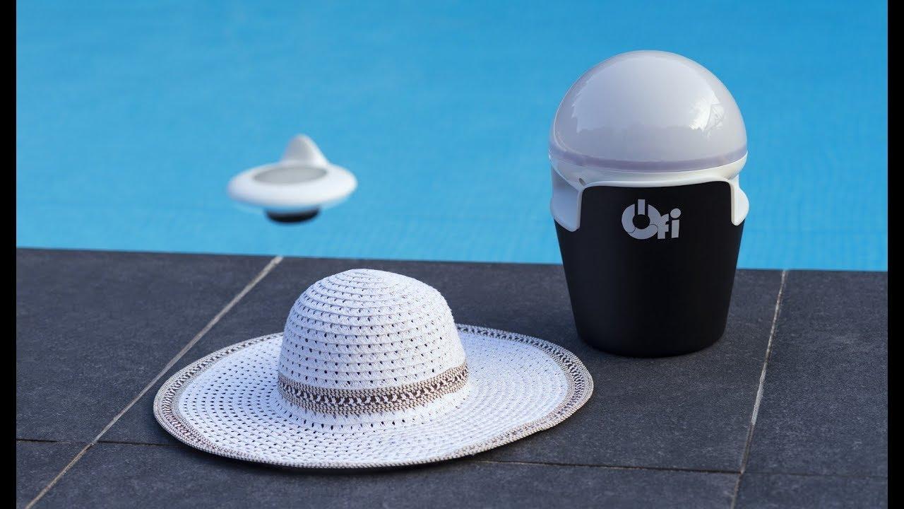 video Test capteur piscine Ofi Light: l'objet flottant intelligent