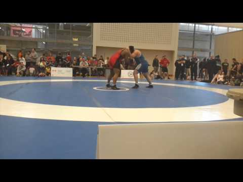 2015 Senior Greco-Roman National Championships: 130 kg Courtney Lewis vs. CJ Thoms