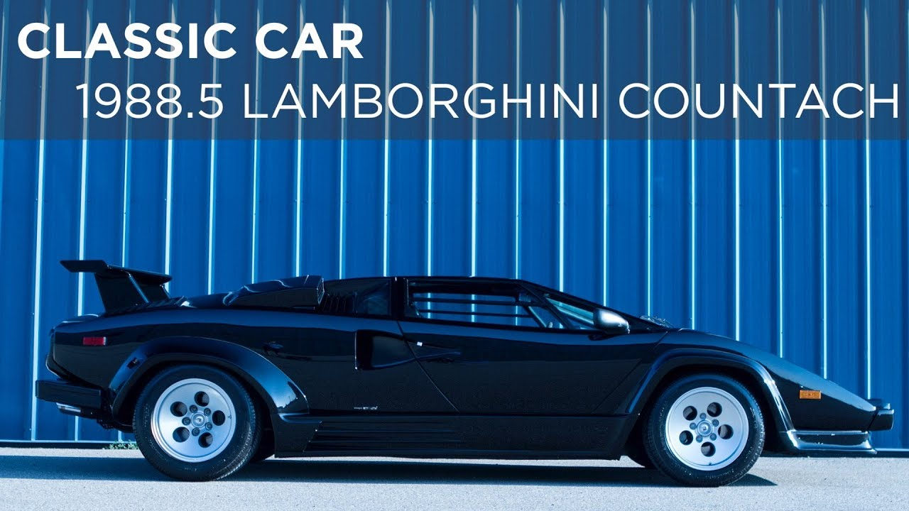 Classic Car 1988 5 Lamborghini Countach Driving Ca Youtube