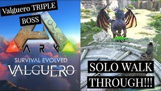 Valguero Boss Fight SOLO WALK THROUGH!!! How to beat it with Deinonychus!