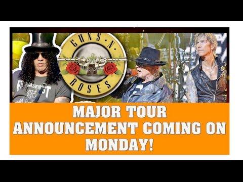 Guns N' Roses News  Major Tour Announcement Coming Monday & Skrillex Talks GNR Opening