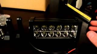 "6"" 36W LED Light Bar Unbox & Review"