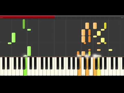 Addams Family main theme piano midi tutorial sheet partitura Familia Adams