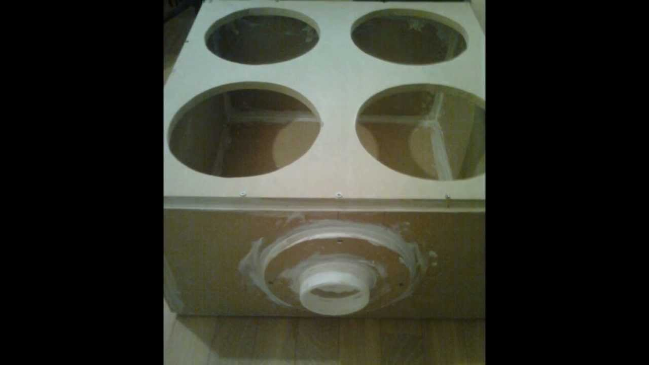 4 12 Inch Subwoofer Box With Vent Artmane 2nd Box