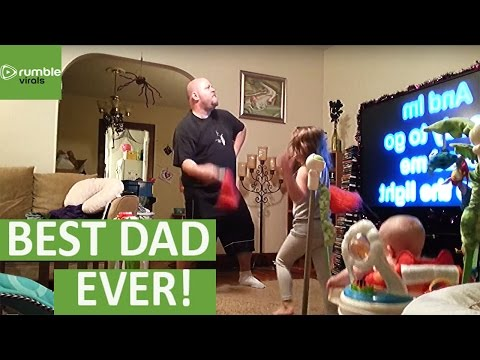 Dancing Dad Caught Red-Handed!