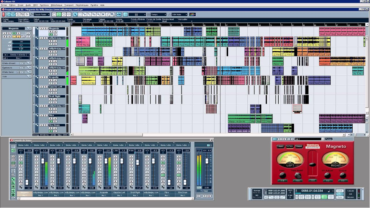 cubase sx 1 megamix 80 et 90 french willy deejay in dite. Black Bedroom Furniture Sets. Home Design Ideas