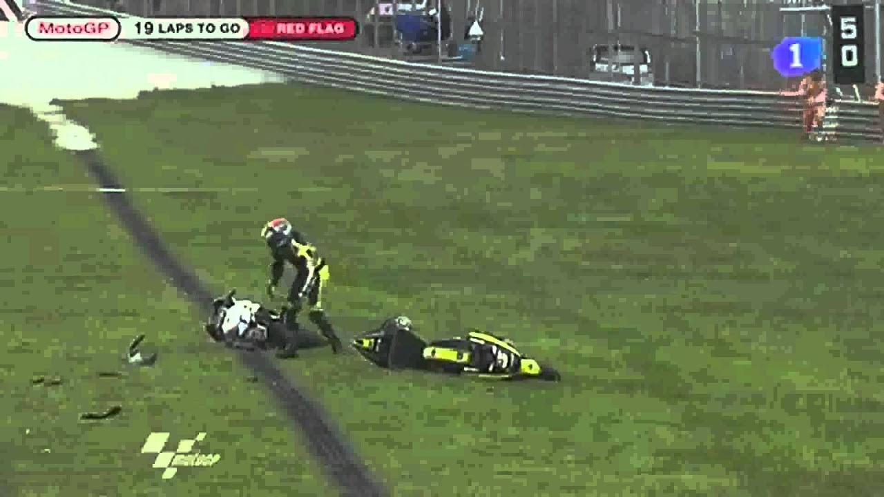 2011 Malaysian motorcycle Grand Prix Crash! Marco Simoncelli dies. - YouTube
