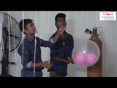 See what happens when you blow Hundreds of Helium Balloons
