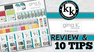 10 Tips Using Gina K Designs EXCLUSIVE Therm-O-Web Product Line