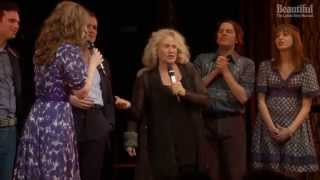 Carole King performs with the Cast of Beautiful live on stage!