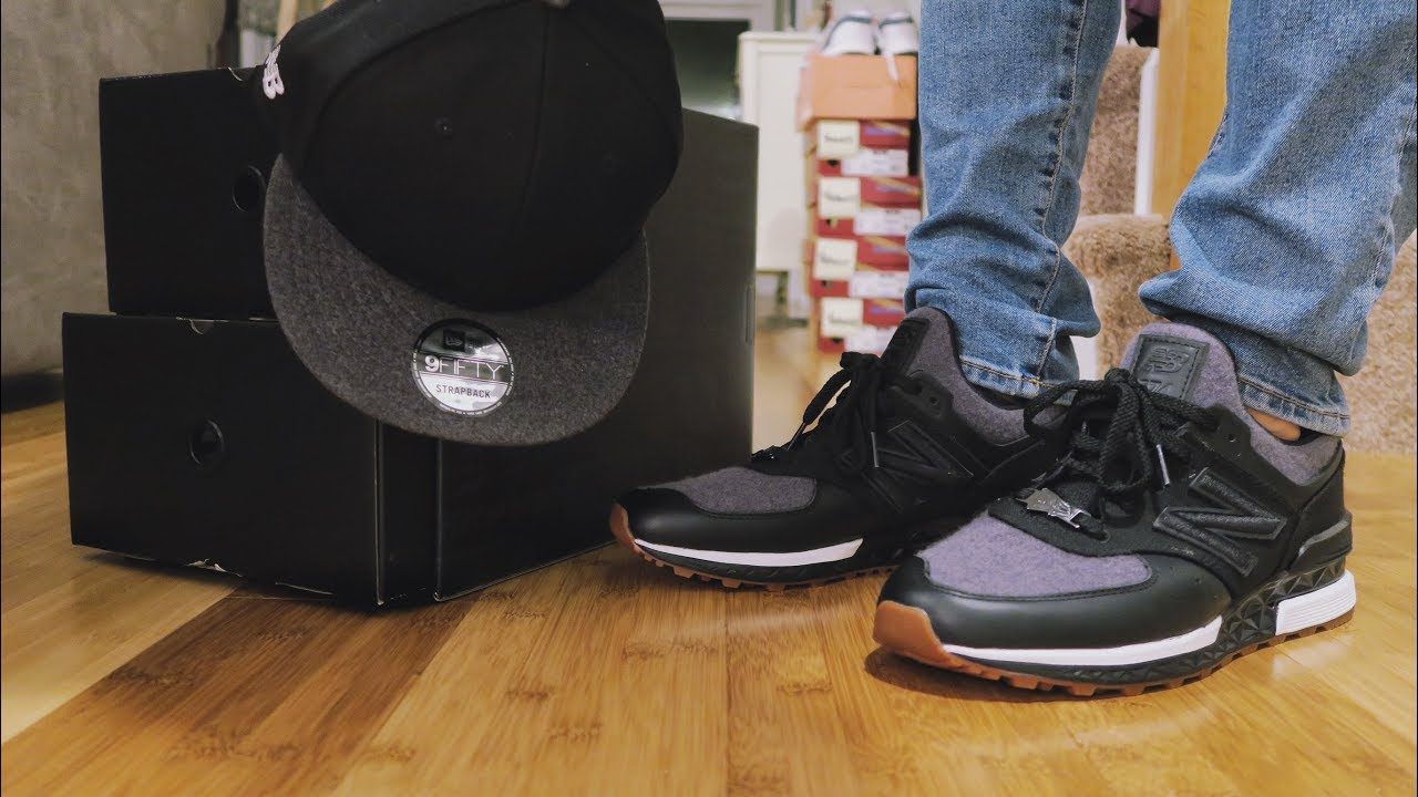 New Balance x New Era 574 Sport Hat Sneaker Pack Review   ON FEET ... 233c79243cf