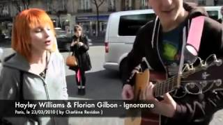 Paramore Hayley Williams sings Ignorance with Florian Gilbon (acapella)