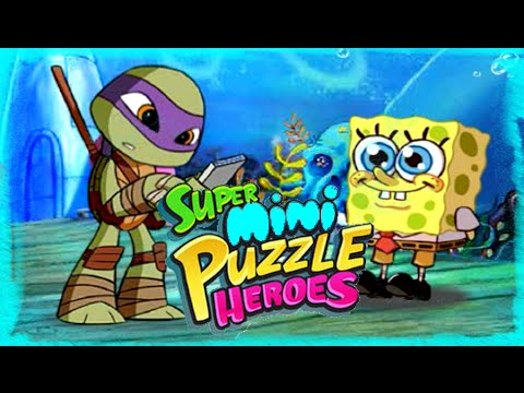 Super Mini Puzzle Heroes Gameplay Episode | Spongebob Ninja Turtles Power Rangers Play The Game