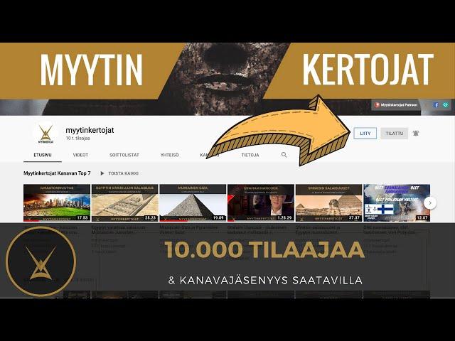 10.000 tilaajaa & ilmoitus - kanavajäsenyys saatavilla
