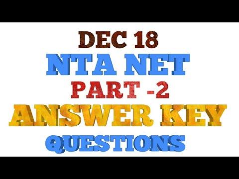 #2 NTA NET 18 DEC ANSWER KEY
