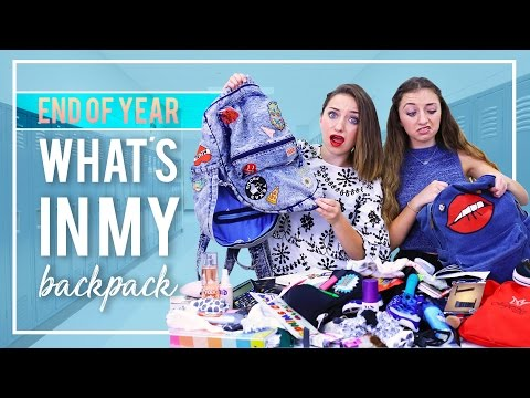 WHAT'S IN MY BACKPACK (School's Out Edition) 2017 | Brooklyn and Bailey