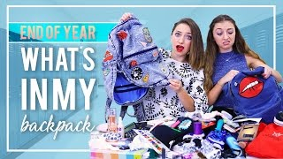 WHAT'S iN MY BACKPACK (School's Out Edition) 2017 | Brooklyn and Bailey thumbnail