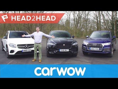 Mercedes GLC v Audi Q5 vs Jaguar F-Pace review | Head2Head
