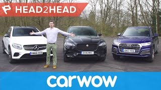 Mercedes GLC v Audi Q5 vs Jaguar F-Pace review | Head2Head