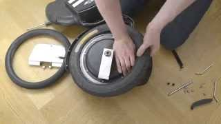 Repair an electric unicycle tire in 150 seconds