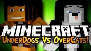 Minecraft: Mini Game: UnderDogs Vs OverCats! w/ Gizzy & Friends!