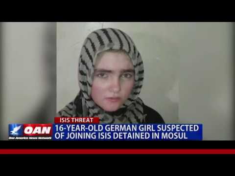 ISLAMIC State SNIPER German Girl run away with Baby in Mosul Iraq Rubble Detained July 25 2017