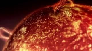 Как выглядит Солнце (Полёт над огненными волнами).Под музыку из фильма Терминатор.