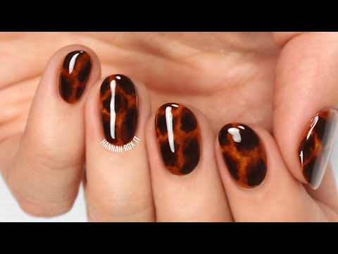 Tortoise Shell Nail Art (without gel!) - YouTube