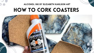 How to Cork & Add Backs to Coasters | Tutorial | Elizabeth Karlson Art