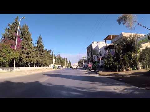 Tunisie Route vers Hammamet filmée en Gopro  / Tunisia Road to Hammamet filmed by Gopro