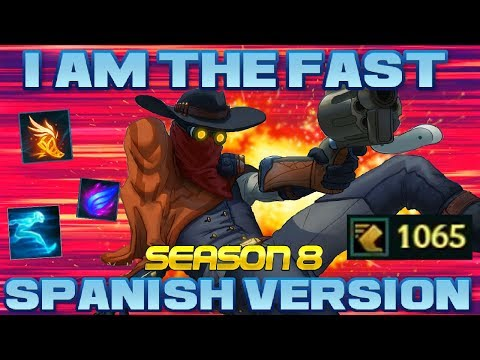 I AM THE FAST: SPANISH VERSION (Season 8)   PARODIA Jhin Full Velocidad (Runas s8) League of Legends