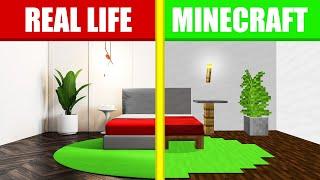 HIDE AND SEEK In MY REAL LIFE BEDROOM! (Minecraft)